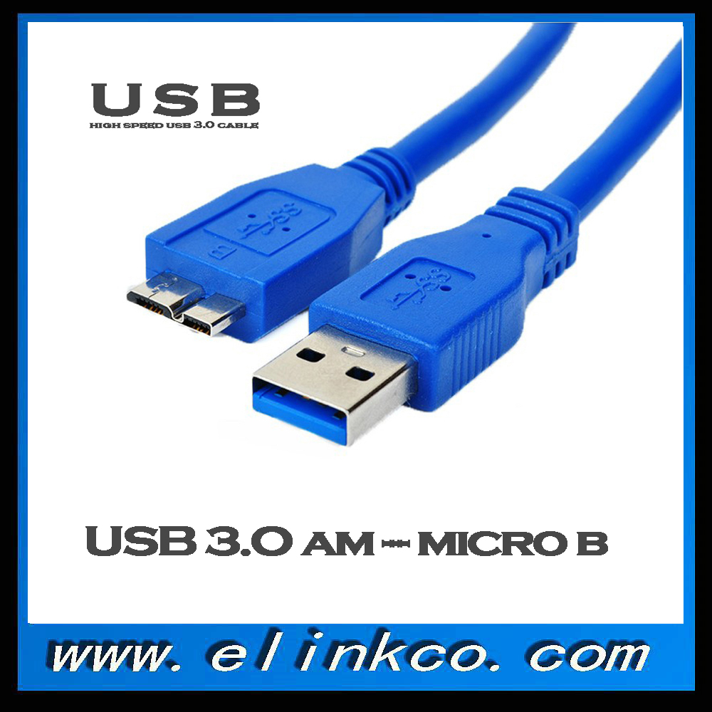 High Speed Blue Micro USB 3.0 Cable