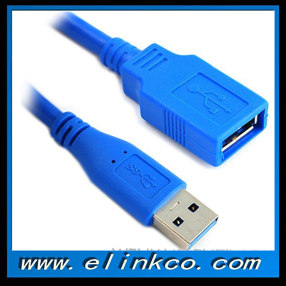 High Speed Blue USB 3.0 Extension Cable Male to Female