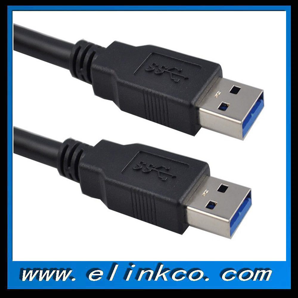 High Speed Black USB 3.0 Cable Male to Male