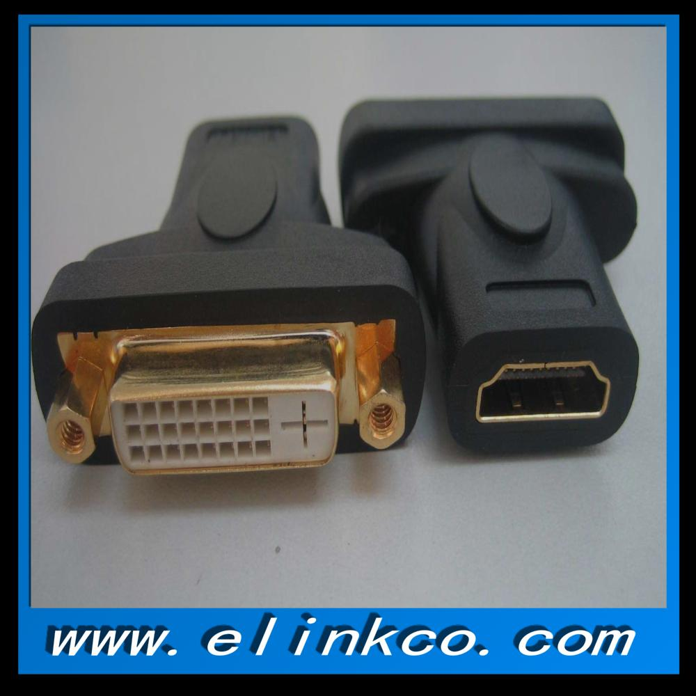 DVI female to hdmi female adapter gold-plated converter